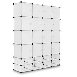 16+8 Cubes Portable Clothes Closet Storage Cabinet