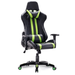 Category: Dropship Office Chairs, SKU #HW55211, Title: Racing Style High Back Reclining Gaming Chair