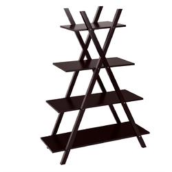 Category: Dropship Plant Stands, SKU #HW55483color, Title: X-Shape 4-Tier Display Shelf Rack Potting Ladder