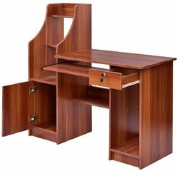 Home Computer Study Workstation Desk w/ Bookshelf