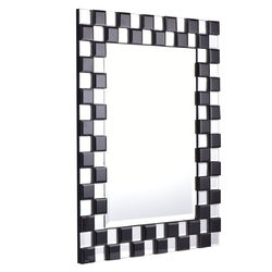 "23.5"" x 31.5"" Rectangular Wall-Mounted Wooden Frame Bathroom Mirror"