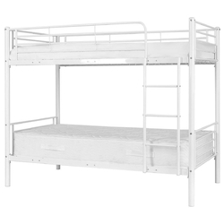 Metal Twin Over Twin Bunk Beds with Ladder