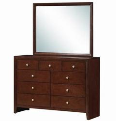Home Luxury 9 Drawers Dresser Mirror Storage Cabinet Set