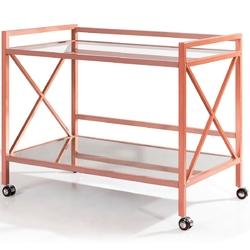 2-Tier Rolling Kitchen Bar Serving Cart