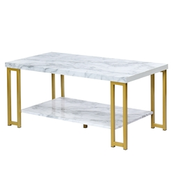 Category: Dropship Coffee Tables, SKU #HW61191, Title:  2-Tier Modern Coffee Table Rectangular