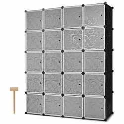 Category: Dropship Closet Organizers & Garment Racks, SKU #HW61411, Title: DIY 20 Cube Portable Closet Wardrobe Cabinet
