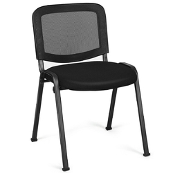 Category: Dropship Office Chairs, SKU #HW61922, Title: Set of 5 Mesh Back Office Conference Chairs