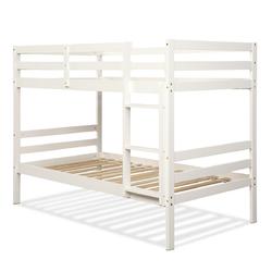 Category: Dropship Beds & Bed Frames, SKU #HW62351, Title: Twin Bunk Bed Children Wooden Bunk Beds Solid Hardwood