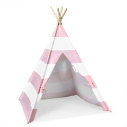 5' White & Pink Portable Indian Children Sleeping Dome Play Tent - Color: Pink