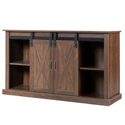 Category: Dropship Entertainment Centers & Tv Stands, SKU #HW62851, Title: Sliding Barn Door TV Stand with Storage