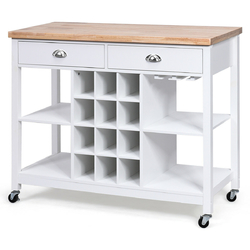 Category: Dropship Kitchen & Dining Carts, SKU #HW63095, Title: Rolling Kitchen Island Bar Storage Serving Cart
