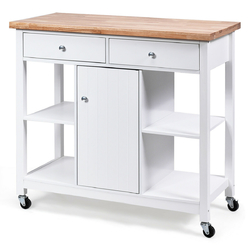 Category: Dropship Kitchen & Dining Carts, SKU #HW63096, Title: Rolling Kitchen Trolley Island Utility Cart Storage Shelf
