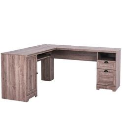 Category: Dropship Desks, SKU #HW63111+, Title: L-Shaped Writing Study Workstation Computer Desk