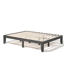 """Queen Size 14"""" Wooden Bed Mattress Frame-Brown"""