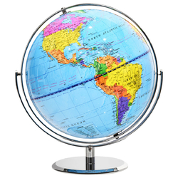 "12"" World Globe 720° Rotating Desktop Geographic for Kids"