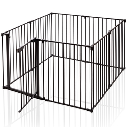 Category: Dropship Play Yards, SKU #HW63354, Title: 8 Panels Metal Gate Baby Pet Fence Safe Playpen Barrier