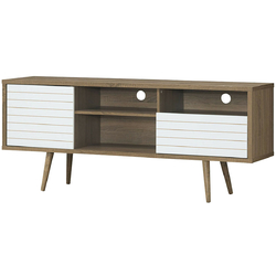 Category: Dropship Entertainment Centers & Tv Stands, SKU #HW63442, Title: Modern TV Stand with 3 Shelves Storage Drawer