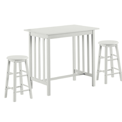 Category: Dropship Kitchen & Dining Furniture Sets, SKU #HW63530+, Title: 3-Piece Counter Height Breakfast Table with 2 Stools