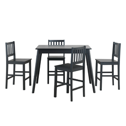 Category: Dropship Kitchen & Dining Furniture Sets, SKU #HW63629+, Title: 5 Piece Counter Height Dining Set Kitchen Table
