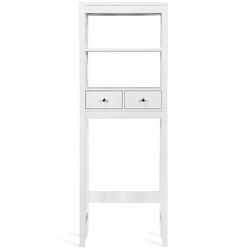 Category: Dropship Medicine Cabinets, SKU #HW63773, Title: Toilet Space Saver Bathroom Organizer Storage Shelf with Drawers