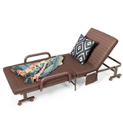 Category: Dropship Outdoor Chairs, SKU #HW63963, Title: Adjustable Guest Single Bed Lounge Portable Wheels