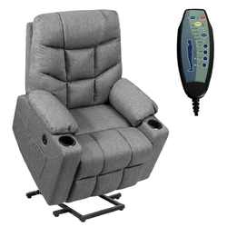 Category: Dropship Massage & Relaxation, SKU #HW65587GR+, Title: Electric Power Lift Recliner Massage Sofa-Gray - Color: Gray