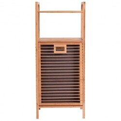 Tilt out Bamboo Shelf Slat Frame Storage Laundry Hamper