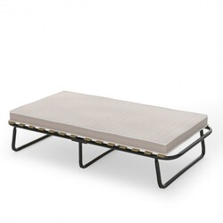 Folding Bed with Memory Foam Mattress Metal Guest Sleeper Made in Italy