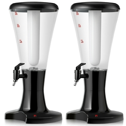 3L Draft Beer Tower Dispenser with LED Lights