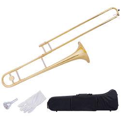 B Flat Trombone Golden Brass with Mouthpiece