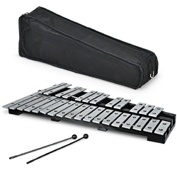 Foldable Aluminum Glockenspiel Xylophone 30 Note with Bag