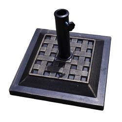 """17.5"""" Heavy Duty Square Umbrella Base Stand - Color: Bronze"""