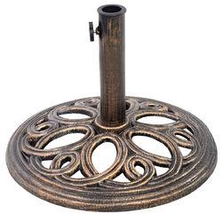"""17 3/4"""" Round Umbrella Base Stand - Color: Bronze"""