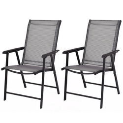 Set of 2 Outdoor Patio Folding Chairs