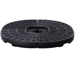 4 Plate Umbrella Base Stand for Patio - Color: Black
