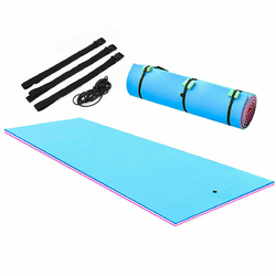 3 Layer Island Water Sports water Mat Floating Pad-18' - Size: 18'