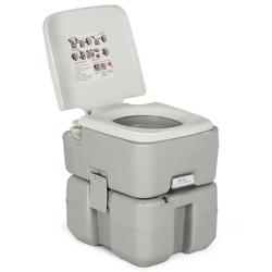 5.3 Gallon Portable Travel Toilet with Piston Pump Flush