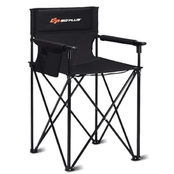 Portable 38'' Oversized High Camping Fishing Folding Chair