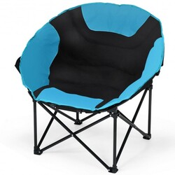 Category: Dropship Camp Furniture, SKU #OP3881, Title: Moon Saucer Steel Camping Chair Folding Padded Seat