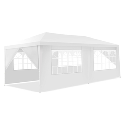 10' x 20' Canopy Tent Wedding Party Tent 6 Sidewalls with Carry Bag
