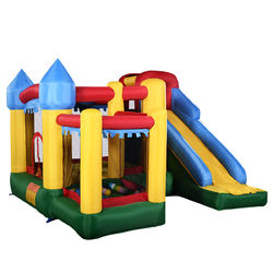 Inflatable Bounce House with Balls and Super Slide