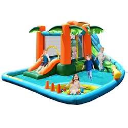 Category: Dropship Inflatable Bouncers, SKU #OP70025, Title: Kids Inflatable Bounce House with Blower
