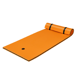 3-Layer Relaxing Tear-proof Water Mat-Orange - Color: Orange