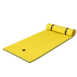 3-Layer Relaxing Tear-proof Water Mat-Yellow - Color: Yellow