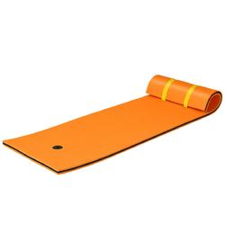 3-layer Tear-resistant Relaxing Foam Floating Pad-Orange - Color: Orange