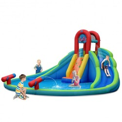 Category: Dropship Inflatable Bouncers, SKU #OP70111, Title: Kids Inflatable Water Slide Bounce House with Carry Bag