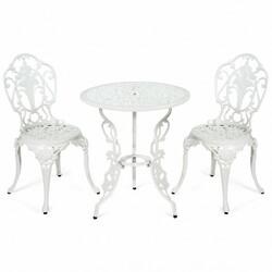 3 PCS Patio Table Chairs Furniture Bistro Set
