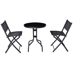 3 Piecs Folding Bistro Table Chairs Set for Indoor and Outdoor
