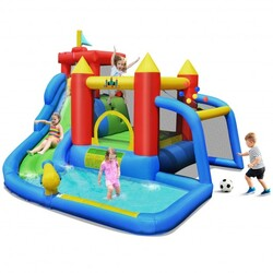 Category: Dropship Toys And Games, SKU #OP70640, Title: Inflatable Bouncer Bounce House with Water Slide Splash Pool without Blower