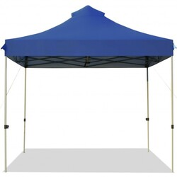 10' x 10' Portable Pop Up Canopy Event Party Tent Adjustable with Roller Bag-Blue - Color: Blue